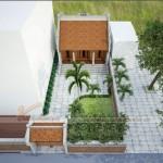 Mẫu nhà 3 gian 2 mái thờ tổ cho dòng họ nhà bác Quyền tại Hải Dương