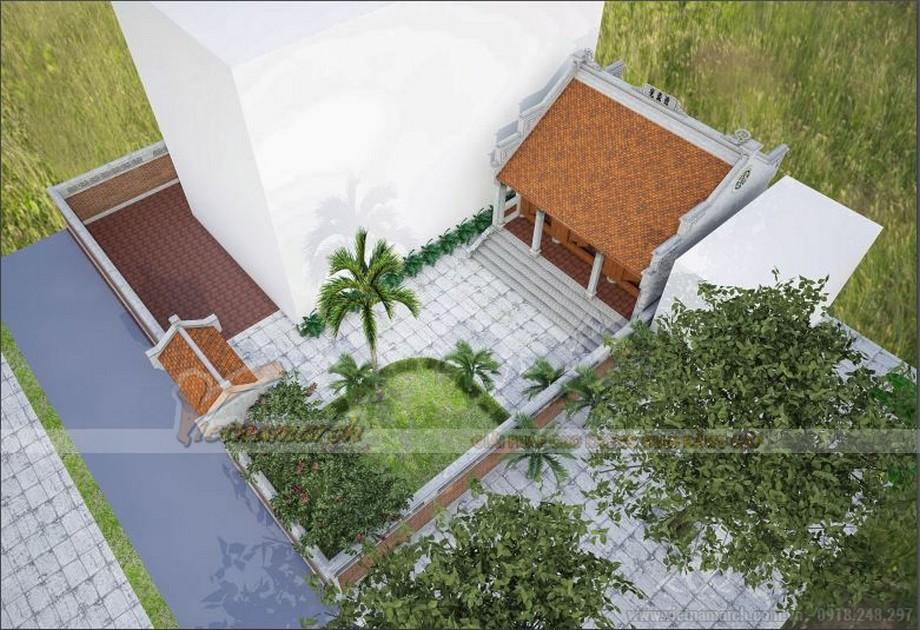 Chuyên thiết kế và thi công nhà thờ họ 3 gian 2 mái