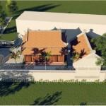 Thiết kế nhà thờ truyền thống 8 mái cho nhà chú Hòa tại Phú Thọ