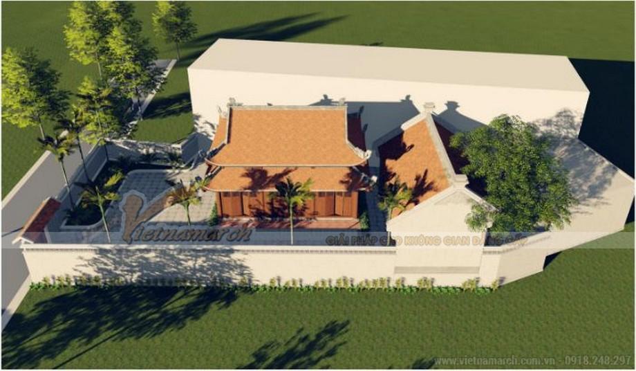Phối cảnh thiết kế nhà thờ họ 8 mái tại Phú Thọ