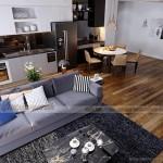 Tư vấn phương án thiết kế nội thất căn hộ 05 tòa G1 Vinhomes Green Bay phong cách đương đại