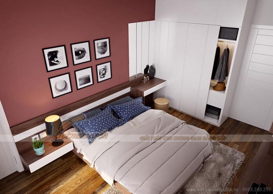 Nội thất phòng ngủ Master trong căn hộ 05 Vinhomes Green Bay