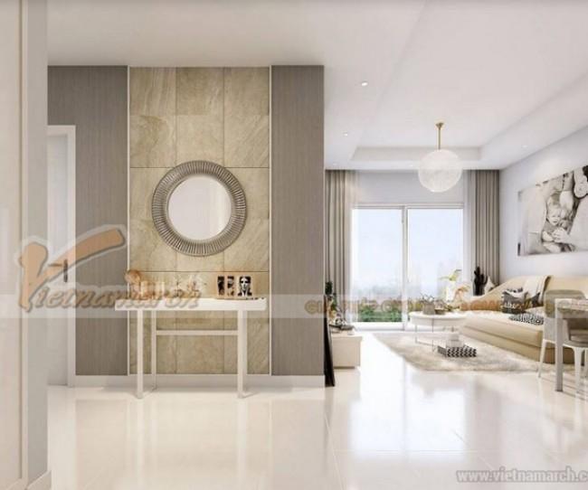 Phương án thiết kế nội thất căn hộ 1 phòng ngủ tại Vinhomes Green Bay