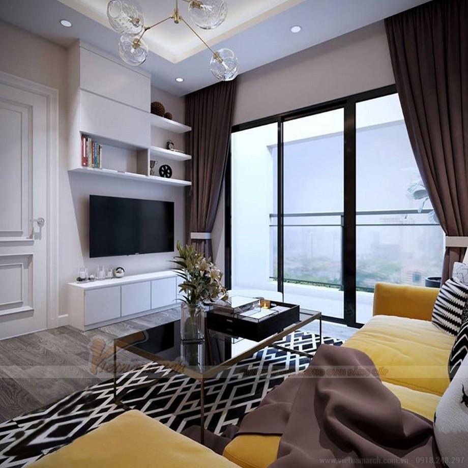 Thiết kế nội thất hiện đại cho căn hộ nhỏ chung cư Vinhomes Skylake-02