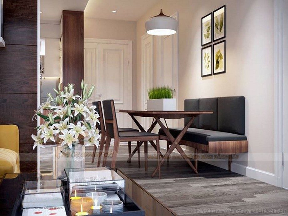 Thiết kế nội thất hiện đại cho căn hộ nhỏ chung cư Vinhomes Skylake-05