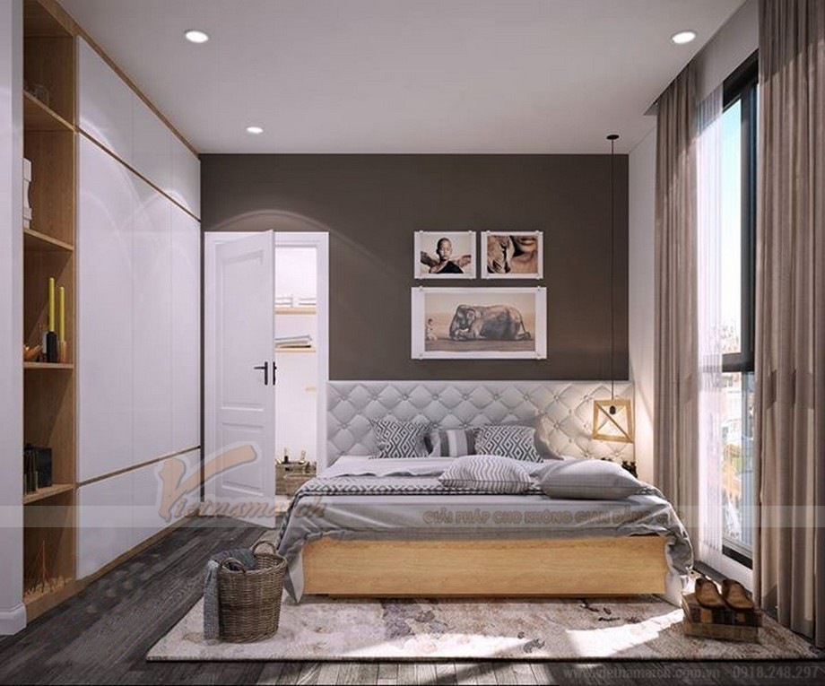 Thiết kế nội thất hiện đại cho căn hộ nhỏ chung cư Vinhomes Skylake-09