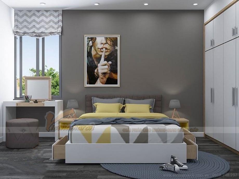 Thiết kế nội thất hiện đại cho căn hộ nhỏ chung cư Vinhomes Skylake-08