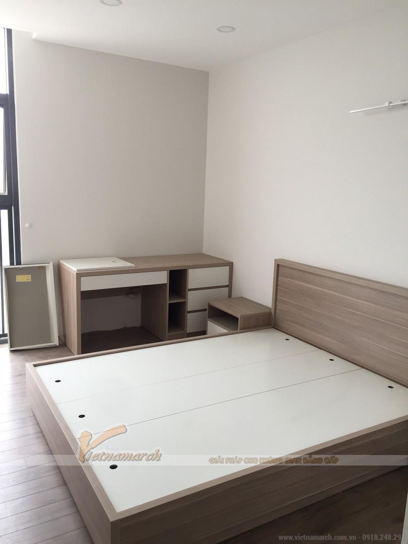 Nội thất phòng ngủ master, căn hộ Skyline Văn Quán đã hoàn thiện.