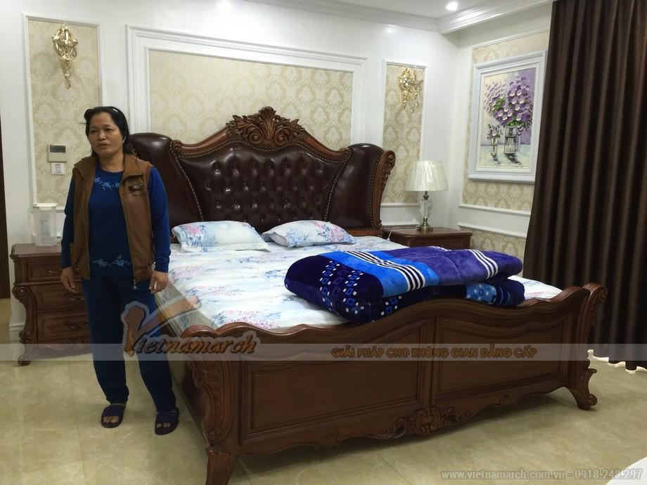 Phòng ngủ sang trọng và đẳng cấp với nội thất tân cổ điển