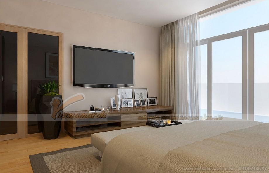 Phòng ngủ Master rộng rãi có view cực đẹp trên tấng 2