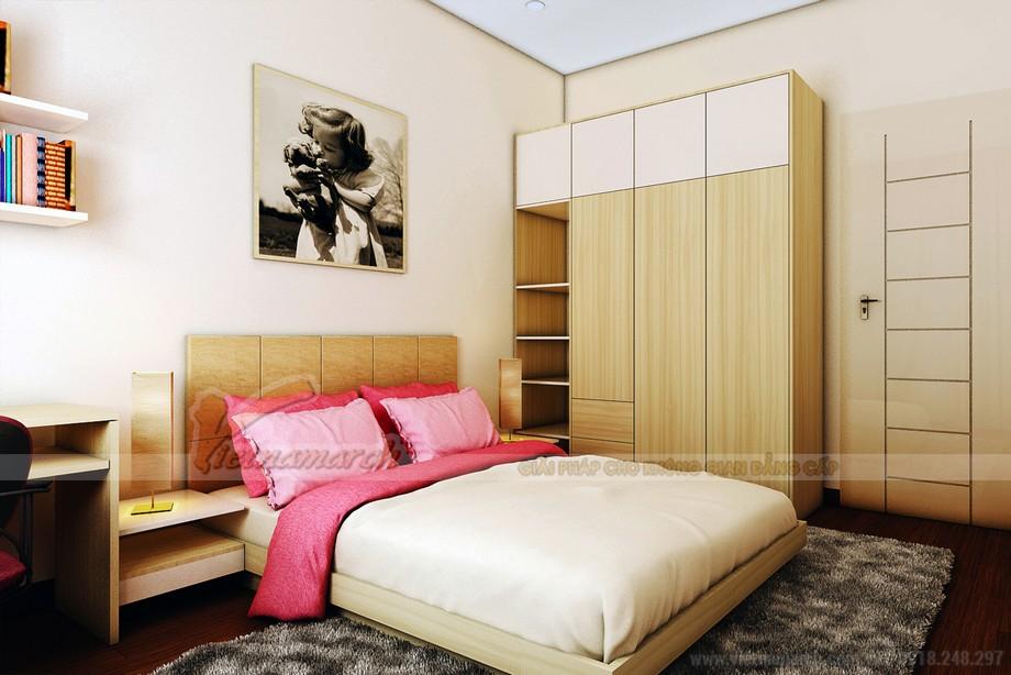 Phòng ngủ điểm sắc hồng, được thiết kế cho bé gái
