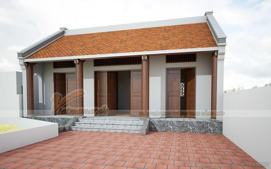 Mẫu nhà thờ họ 3 gian 2 mái được thiết kế bởi KTS Vietnamarch