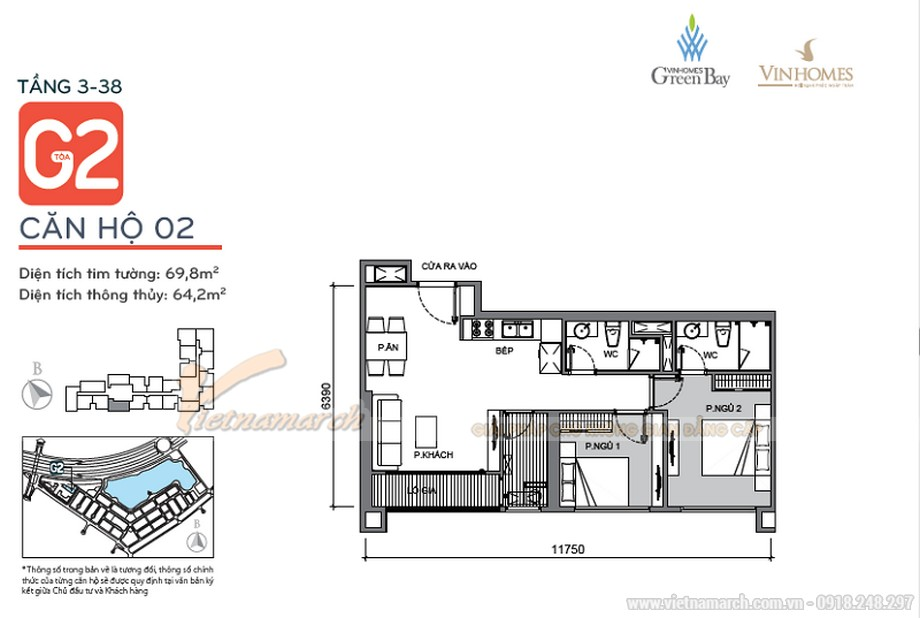 Mẫu thiết kế nội thất hiện đại căn hộ 02 tòa G2 Vinhome Green Bay-01