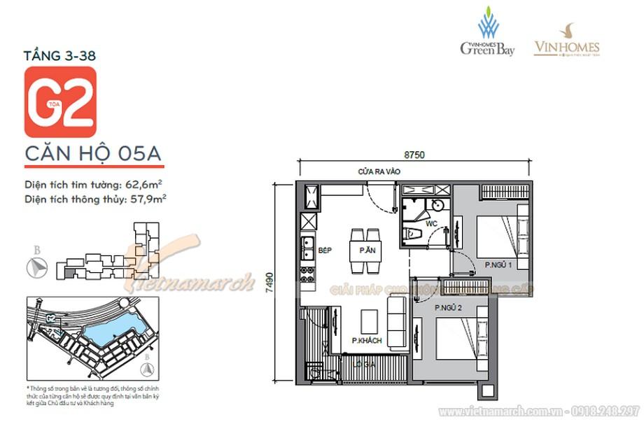 Nội thất hiện đại sang trọng cho căn hộ 03 tòa G1 chung cư Vinhome Green Bay-01
