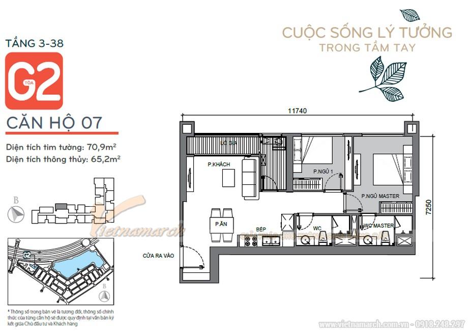 Nội thất đẹp lung linh cho căn hộ 07 tòa G2 chung cư Vinhome Green Bay-01