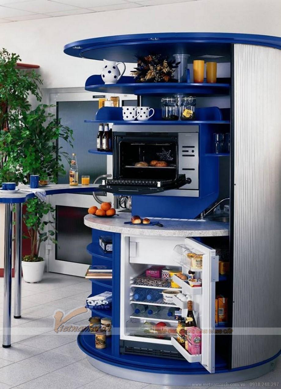 Tủ bếp xoay tròn thông minh