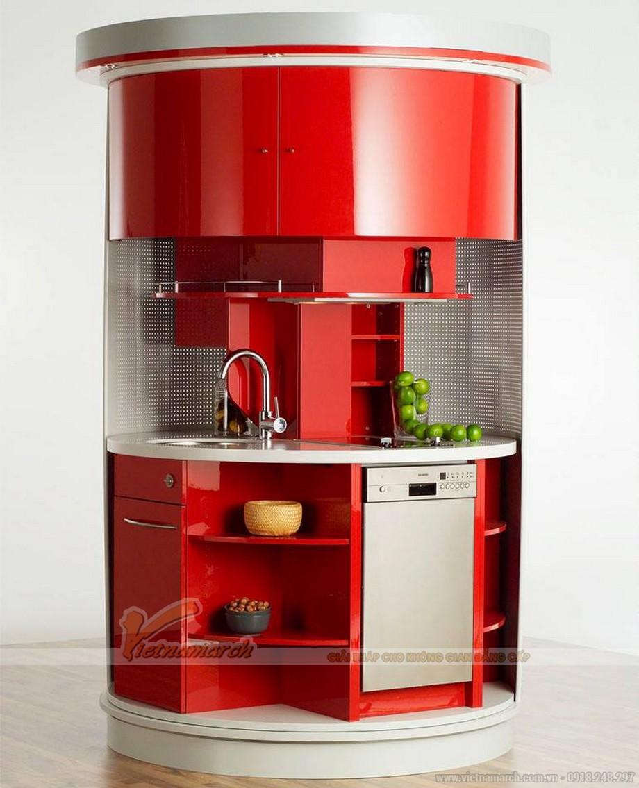Tủ bếp xoay tròn thông minh cho nhà bếp hiện đại