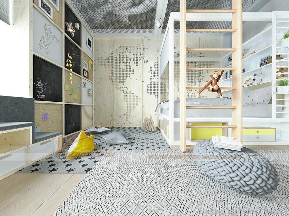 Thiết kế phòng cho trẻ sáng tạo, ấn tượng