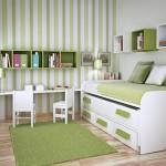 Giường tầng thông minh kết hợp bàn học ấn tượng cho phòng của trẻ