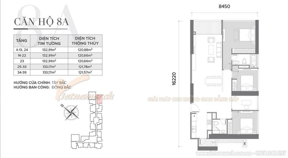 Tư vấn thiết kế nội thất Vinhomes Skylake tòa S2 - căn hộ 08 A