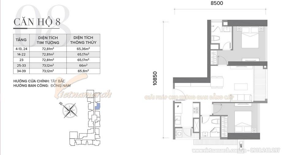 Tư vấn thiết kế nội thất Vinhomes Skylake tòa S2 - căn hộ 08