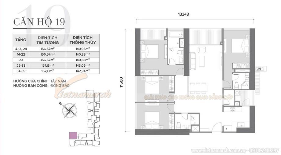 Mẫu thiết kế nội thất phòng ngủ cho căn hộ 19 tòa S2 chung cư Vinhome Skylake-01