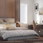 Mẫu thiết kế nội thất phòng ngủ cho căn hộ 19 tòa S2 chung cư Vinhome Skylake