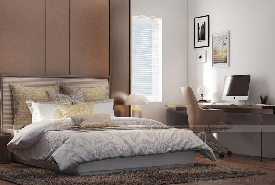 Mẫu thiết kế nội thất phòng ngủ cho căn hộ 19 tòa S2 chung cư Vinhome Skylake-02