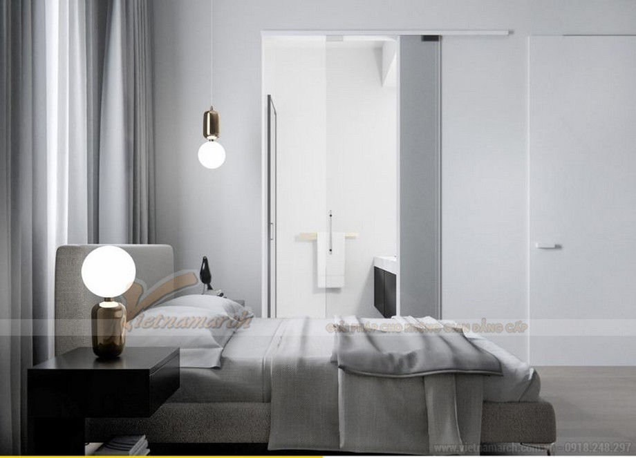 Thiết kế nội thất phòng ngủ đẹp lung linh cho căn hộ Vinhome Skylake-03
