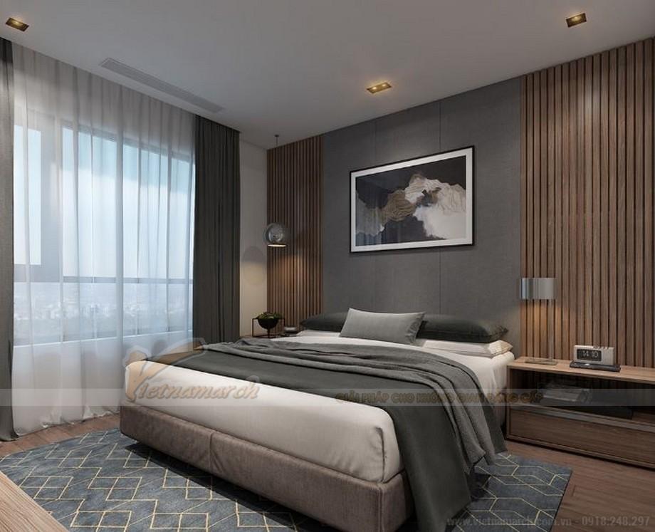 Mẫu thiết kế nội thất phòng ngủ cho căn hộ 19 tòa S2 chung cư Vinhome Skylake-06