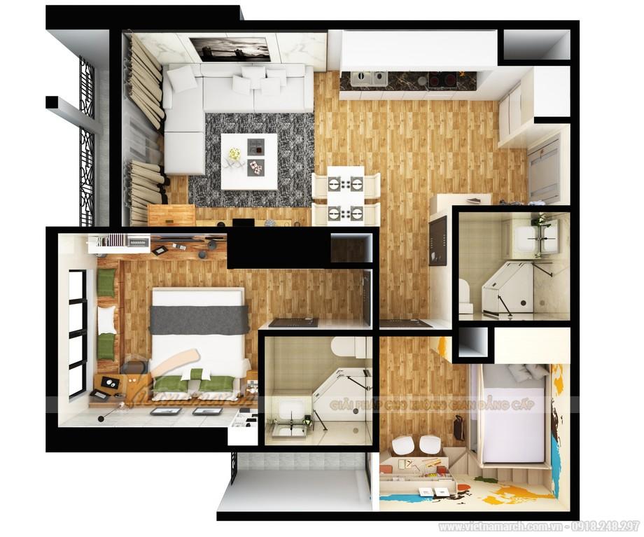 Phương án thiết kế căn hộ 16 tòa park 11 Times City