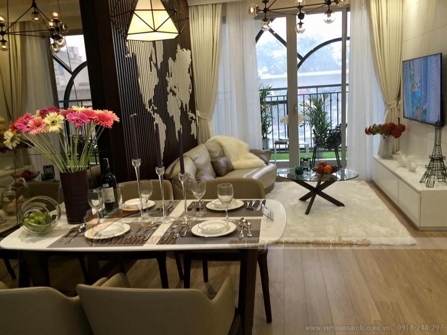 Nội thất phòng khách căn hộ mẫu Vinhomes Gardenia