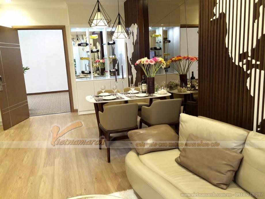 Không gian phòng bếp với tông màu trắng tinh khôi ấn tượng