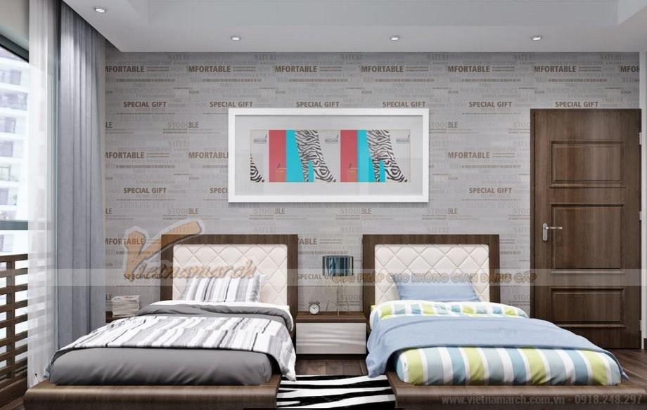 Nội thất phòng ngủ các con căn hộ 06 tòa A1 Vinhomes Gardenia