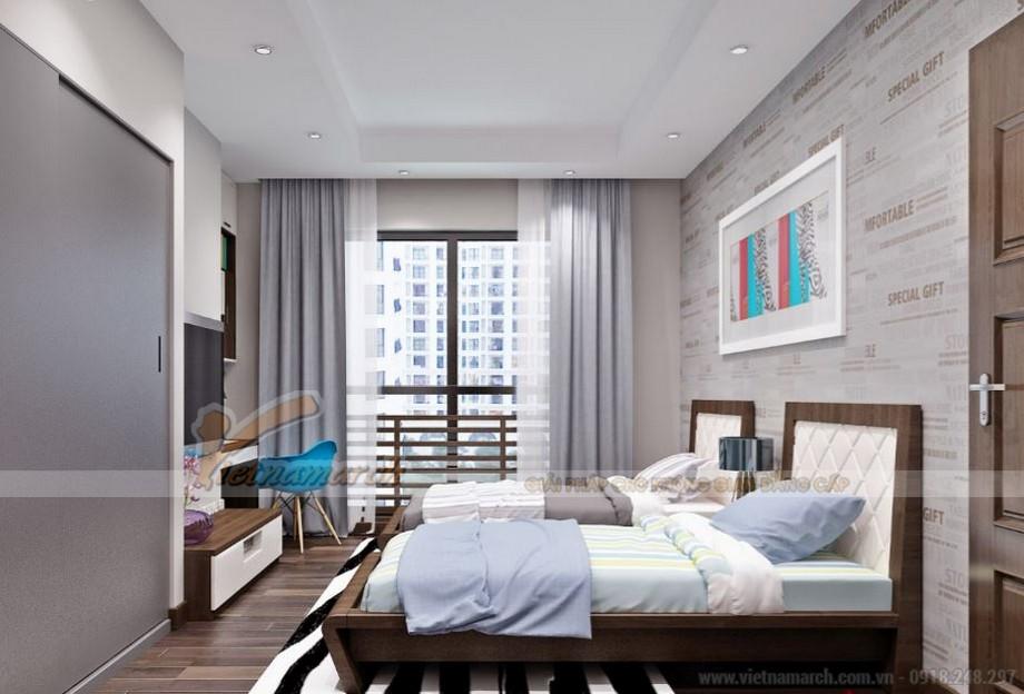 Thiết kế nội thất phòng ngủ cho trẻ với giường đôi