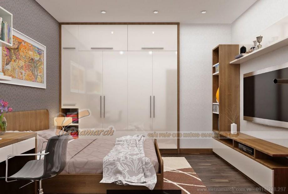 Nội thất phòng ngủ master căn hộ 06 tòa A1 Vinhomes Gardenia