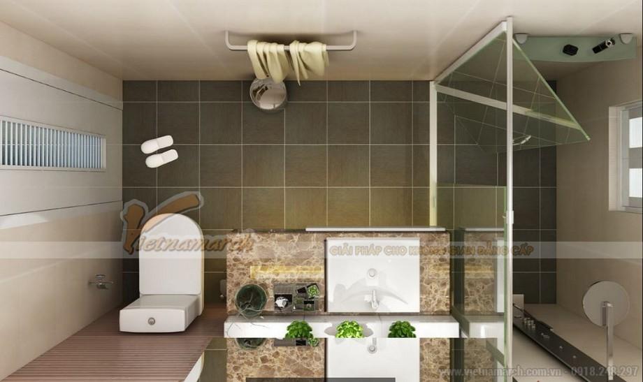 Không gian nội thất phòng tắm căn hộ 06 tòa A1 Vinhomes Gardenia