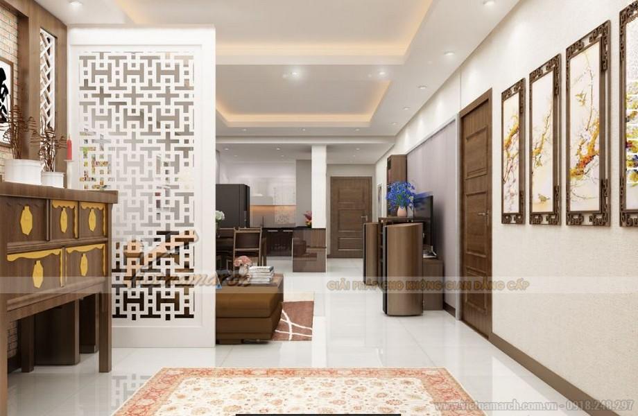Không gian nội thất căn hộ Vinhomes Gardenia 4 phòng khách