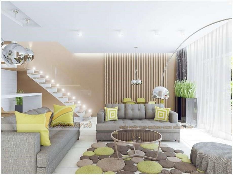 Thảm trải sàn phòng khách có thiết kế ấn tượng, ý tưởng từ những hòn đá
