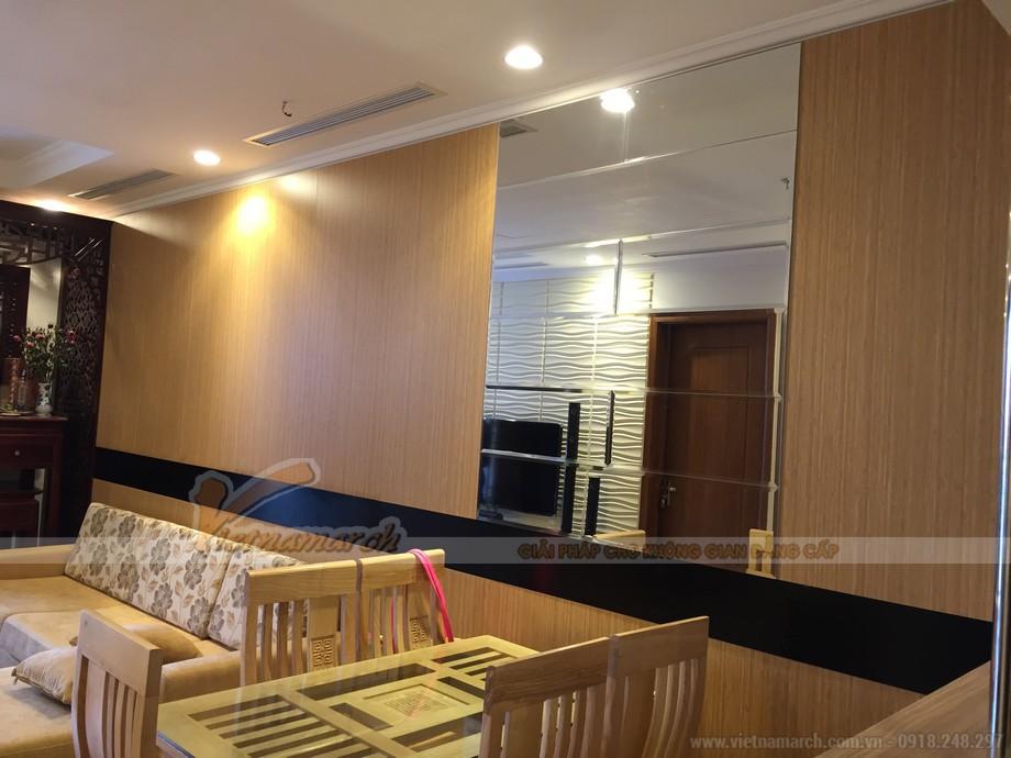 Không gian phòng khách và phòng ăn của căn hộ 06 Park 5 chung cư Park Hill