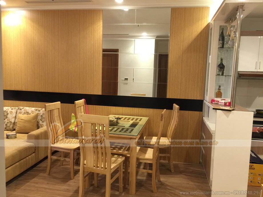Không gian nội thất liên thông phòng khách, phòng ăn và phòng bếp