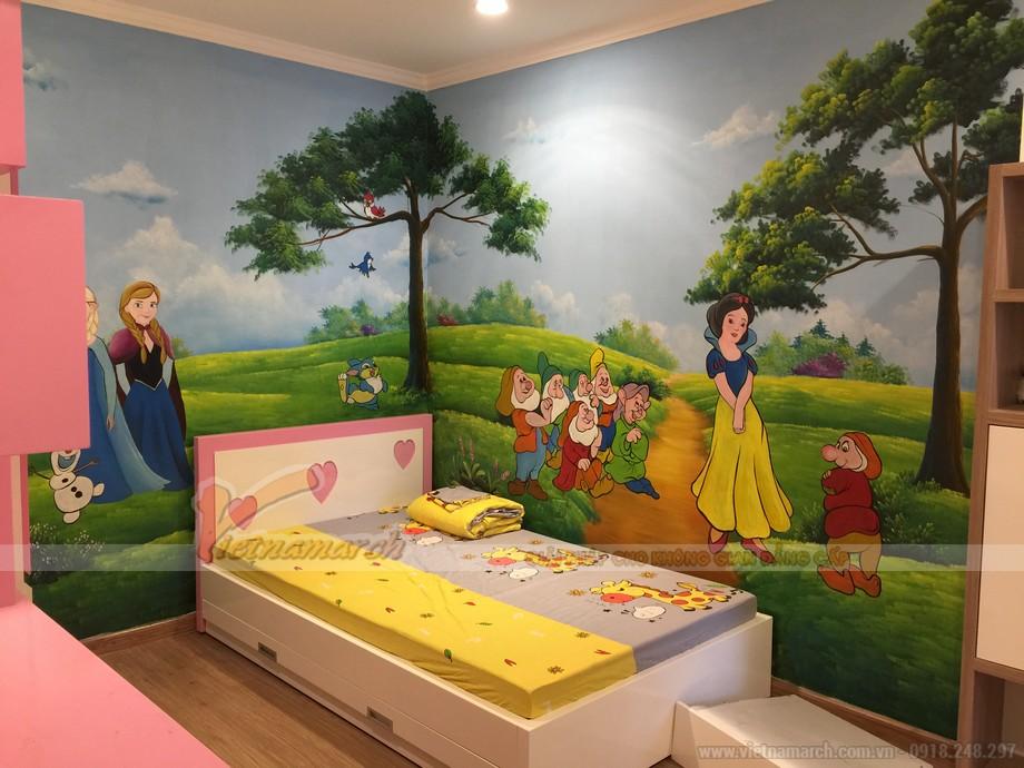 Không gian nội thất phòng ngủ dễ thương của bé gái