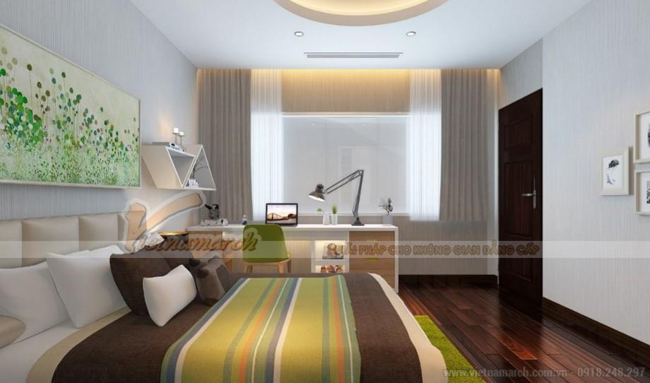 Nội thất phòng ngủ căn hộ tòa Vinhomes Gardenia tòa A1