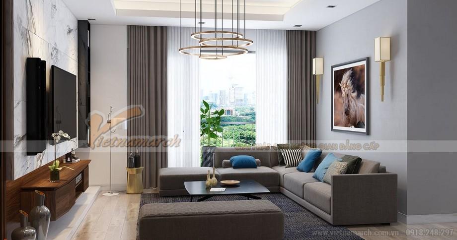 Phương án thiết kế nội thất căn hộ 3 phòng ngủ tòa A1 Vinhomes Gardenia