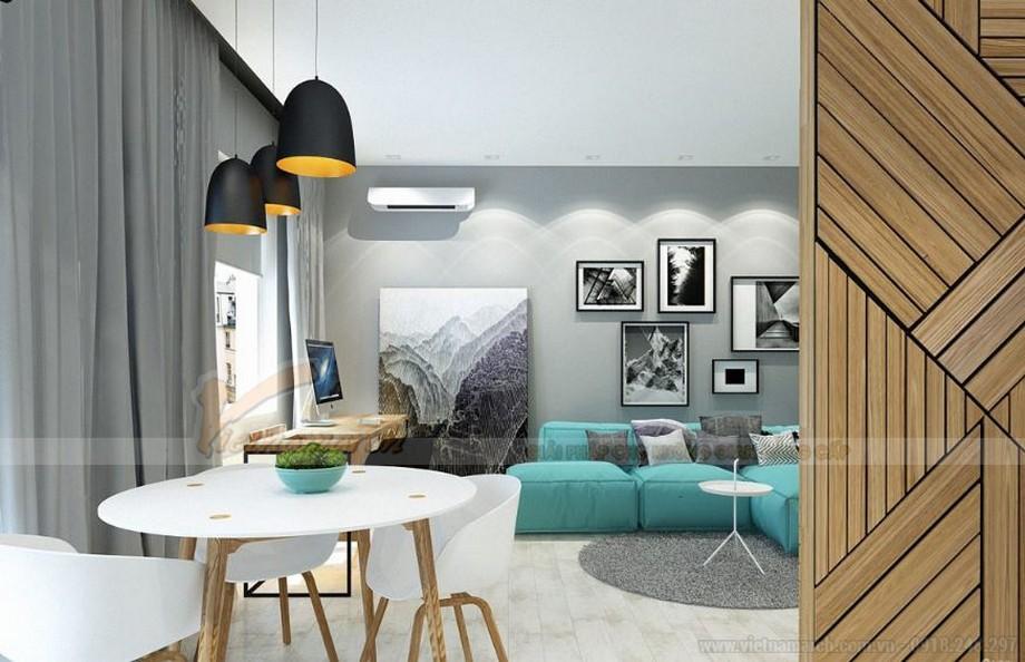 Tư vấn thiết kế nội thất hiện đại căn hộ 2 phòng ngủ Vinhome Skylake-03