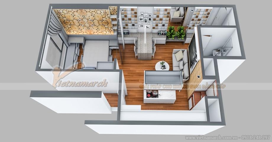 Mặt bằng thiết kế nội thất căn hộ tại Park 7 Times City