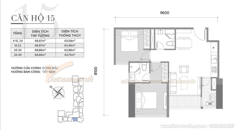 Tư vấn thiết kế nội thất hiện đại căn hộ 2 phòng ngủ Vinhome Skylake-01