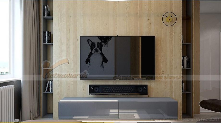 Tư vấn thiết kế nội thất hiện đại căn hộ 2 phòng ngủ Vinhome Skylake-02
