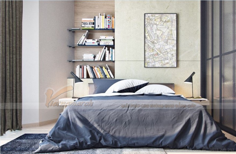 Tư vấn thiết kế nội thất hiện đại căn hộ 2 phòng ngủ Vinhome Skylake-08
