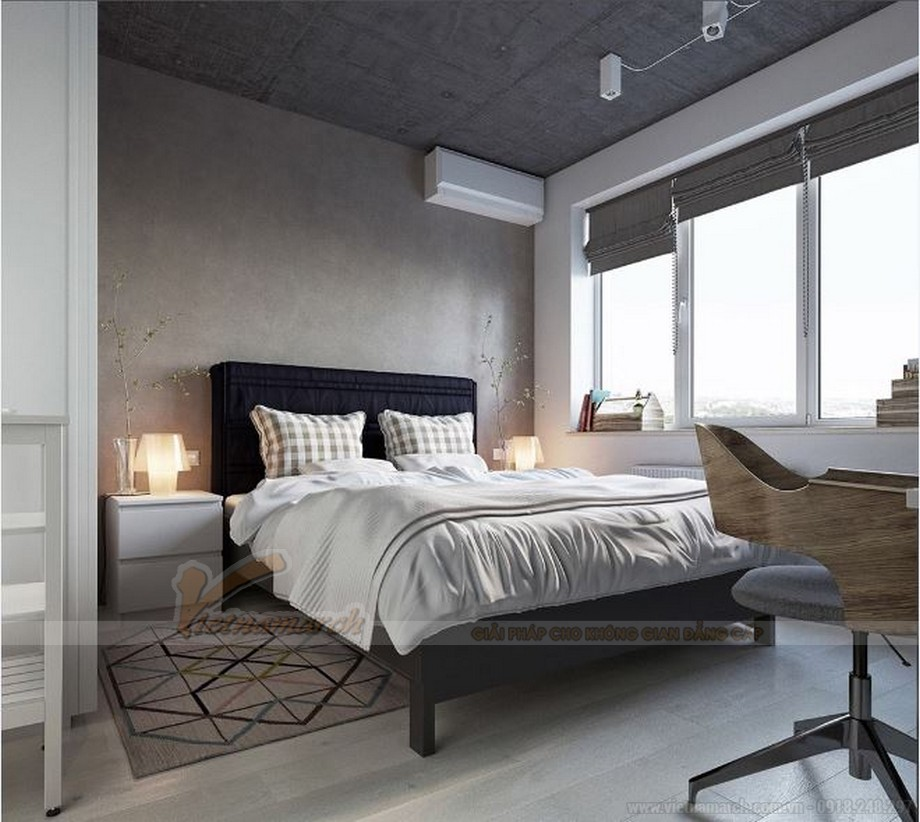 Tư vấn thiết kế nội thất hiện đại căn hộ 2 phòng ngủ Vinhome Skylake-07
